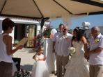 wedding  ceremony  in  the  villa