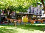 Mirepoix Apple Festival. The theme changes each year. Volunteers work all week to create the theme