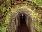 Tunnel through the side of the Caldeira.