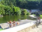 Swimming at Laguepie
