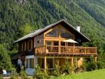 Chalet La Moraine in the Summer Sunshine
