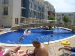 The main pool, in which our balcony over looks
