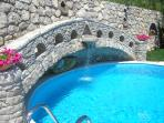 Swimming pool on the rock sorrento villas holidays accommodation vacation amalfi coast booking rents