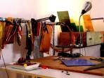 surroundings: glass jewellery workshop in via Alloro