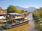 Water taxis cross the bay every 30 minutes from Fethiye harbour and make a fun trip to Calis Beach