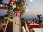 one of the many sea front restaurants at Calis