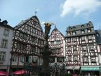 Bernkastel market square, 3 minutes walking from the house