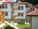 A picture of the Rykovski complex in Pamporovo, Bulgaria.