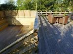 Split level deck area