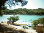 The Embalces (The Lakes) beautiful views, walks & picnic area with Bar-b-que, swimming & pedalos.