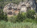 Lycean Tombs and River cruise at Dalyan