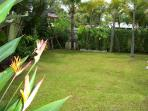 Large tropical  Rear  Garden