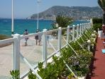 The promenade at the front of Rubino