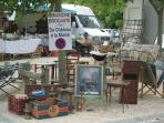 Visit local Brocantes, flea-markets, at a weekend