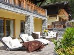 Chalet Serena Terrace in summer