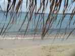 Krios sandy beach right outside your door - beautiful, turquoise water; clean, sandy beach.