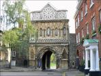 An old entrance to Norwich cathedral