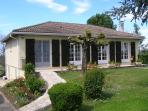 Maison aux Vignes, set in a large enclosed garden, with its own pool in Puisseguin, St Emilion.