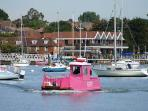 The pink ferry over to Warsash