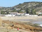 Beautiful Praia de Luz, sheltered beach,lots of eating places in a wonderful setting