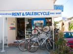 Bike hire shop in Polis