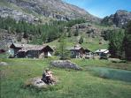 The mountain village of Le Monal is a beautiful 30 minute walk from the chalet