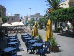 Enjoy the many cafes in Tropea's town square