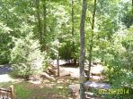 Downward view from front of cabin