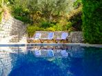 Large pool and private pool area