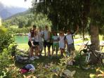 By the lake in Bozel - perfect for swimming and chilling!
