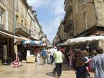 Sarlat market one of the best markets you'll find in the Dordogne