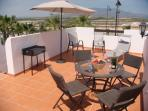 Large roof terrace - great for barbecues