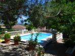 Sunny swimming pool