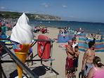Swanage Beach, sandy seaside, child friendly