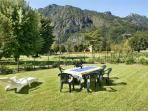 Each apartment enjoys lake and mountain views and a large private garden area