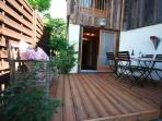 Outside terrace for BBQ and dining