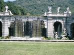 The picturesque water falls at Caserta