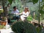 Relaxing under olive tree