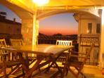 Esra's evening views from the varanda and upper balcony
