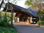 Entrance to the reception of the Kruger Park Lodge