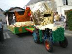 A parade float at the annual Agricultural show (Comice Agricole) First weekend in September.