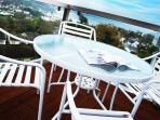 Enjoy alfresco dining on the upper balcony
