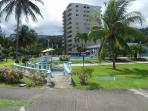 Gardens and swimming pool, Turtle Beach Towers
