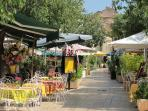Choosing restaurants in the delightful nearby hill village of Gassin