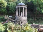 St Bernard's Well, Dean Village. A five minute walk from The Mews to the Water of Leith.