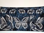 Local Batik - you can see the real butterflies in the garden