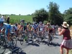 Tour de france going trough local village