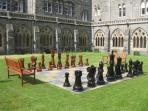 Giant Chess Set at Highland Club