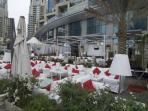 There are over 400 restaurants surrounding Dubai Marina