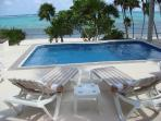 Beach front  swim up SUITES with pool, 3 steps to sand.